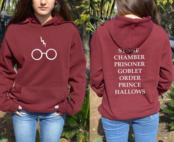 Glasses /& Lightning Bolt Harry Potter Inspired Kids Zip Up Hoodie Unisex
