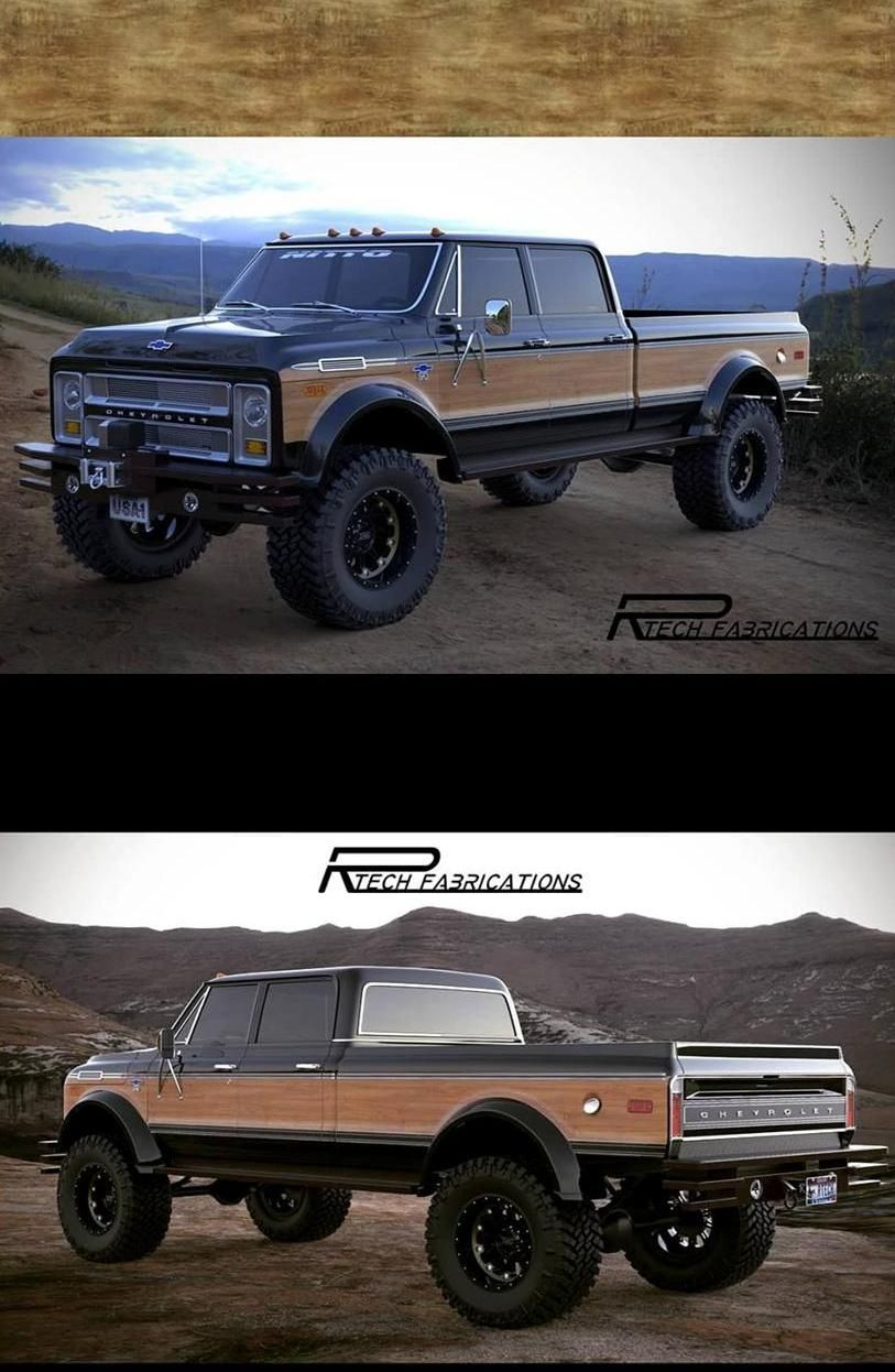 The Duke A 1972 K50 Chevy Crew Cab With A Face Lift For A