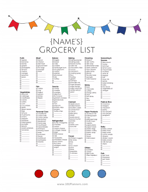 grocery list template grocery list pinterest
