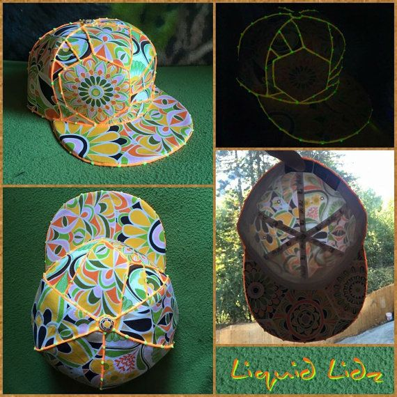 Sacred Geometric Sun Shine fitted lid: 7 3/4 by LiquidLidz