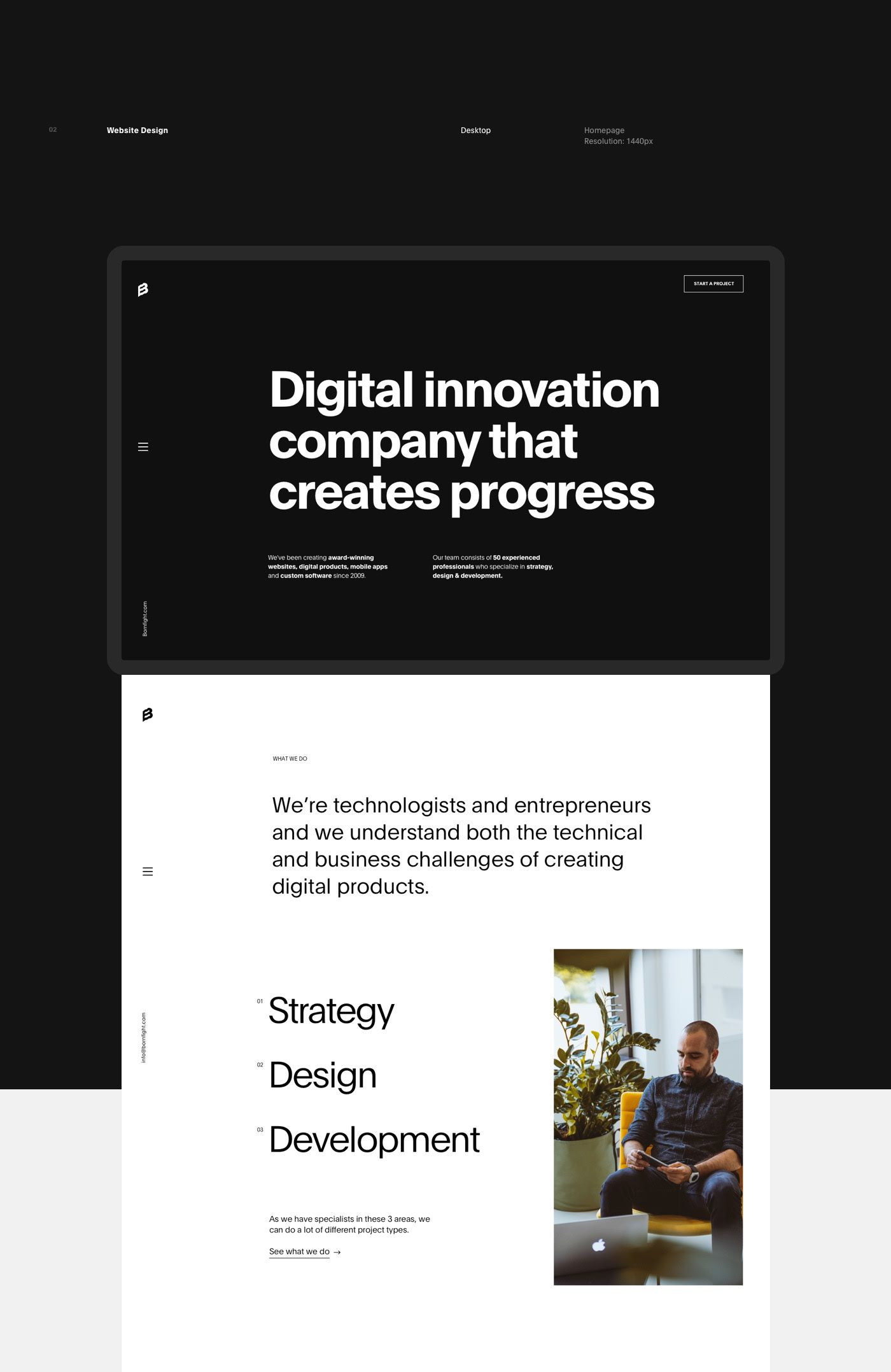 Bornfight Digital Innovation Company On Behance Portfolio Website Design Minimal Web Design Agency Website Design