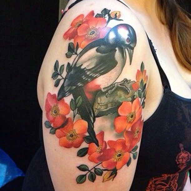 13 Tattoo Artists Share Some Of The Beautiful Flower: Feature Artist: Amanda Leadman (IG: @Ava Dunn) // Black 13