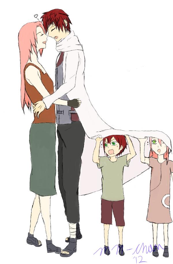the sabaku family by macchimacchichan gaara e sakura