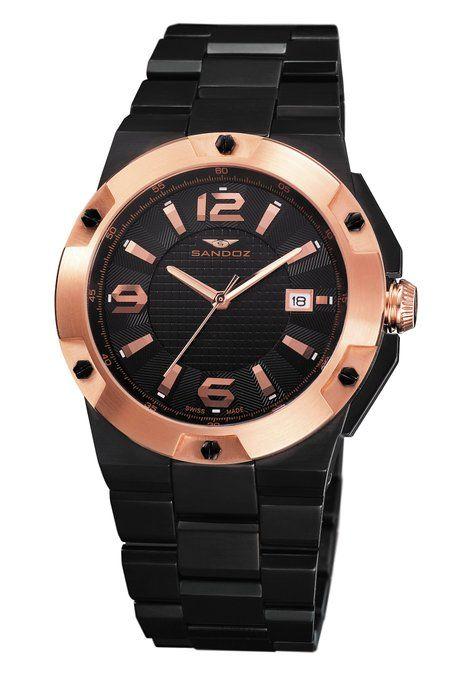 2cfc9fa2f4c2 Sandoz Caractère Collection - Reloj de caballero de cuarzo