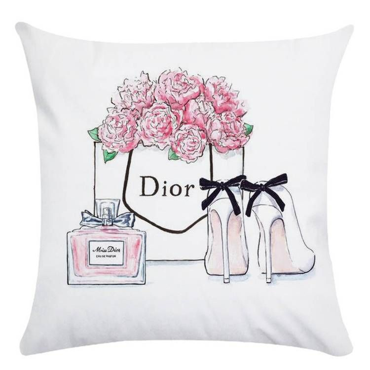 45cm 45cm Hand Painted Flowers And Perfume Bottles Super Soft Cushion Cover And Sofa Pillow Case Home Decorative Pillow Cover Chic Throw Pillows Decorative Pillow Covers Throw Pillow Case Covers