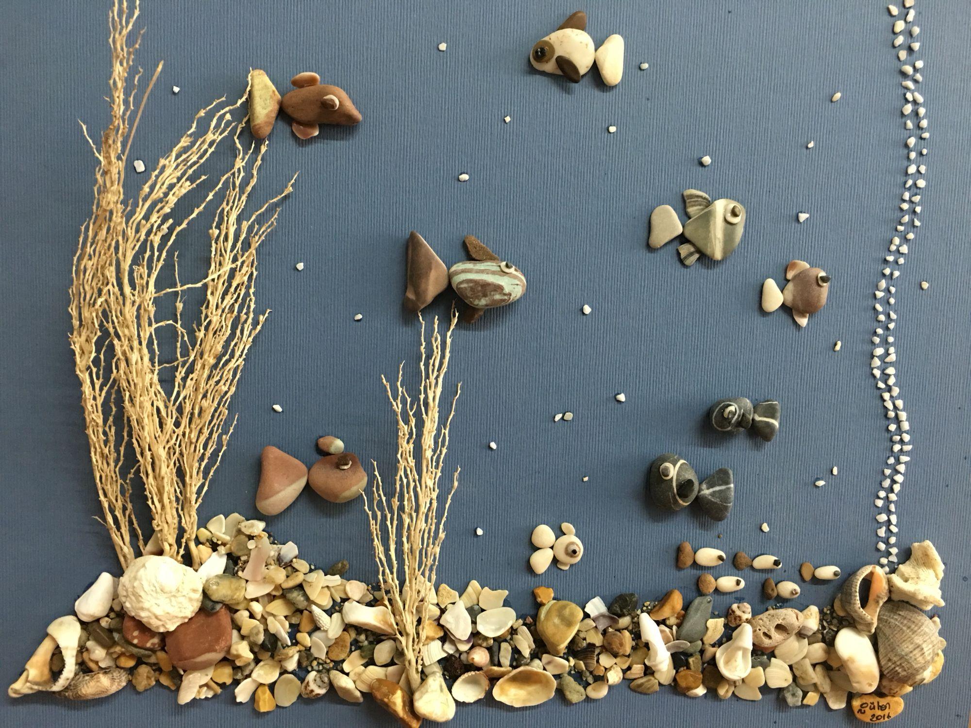 картинки из природного материала морские нас есть