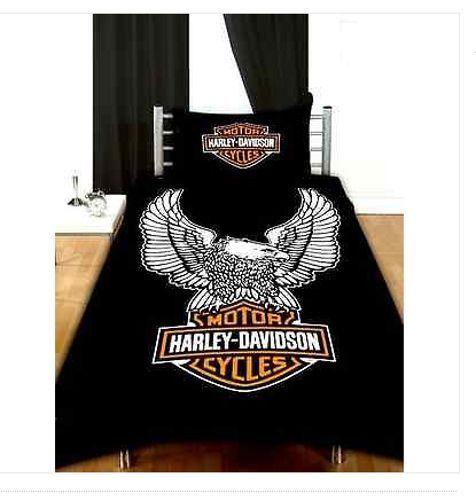 Officially Licensed Harley Davidson Duvet Cover 100 Cotton Bedding Harley Davidson Cotton Bedding Harley