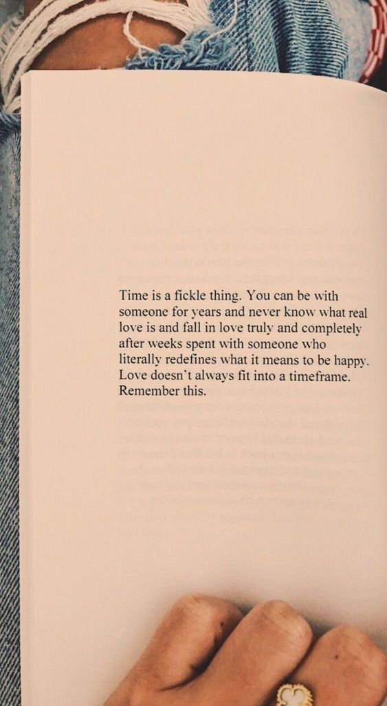 Love doesn't always fit into a timeframe.