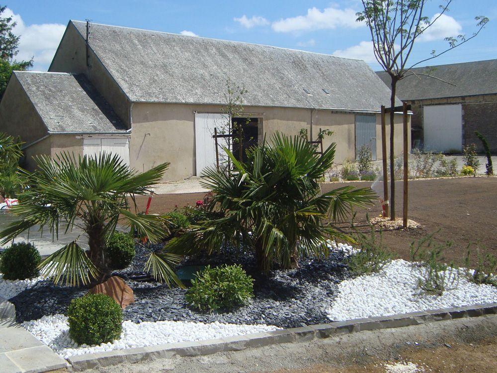 r sultat de recherche d 39 images pour parterre mineral jardin pinterest palmiers. Black Bedroom Furniture Sets. Home Design Ideas