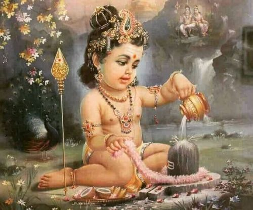 Baby Murugan Worshipping Shiva As A Lingam Lord Murugan Wallpapers Lord Murugan Lord Ganesha Paintings