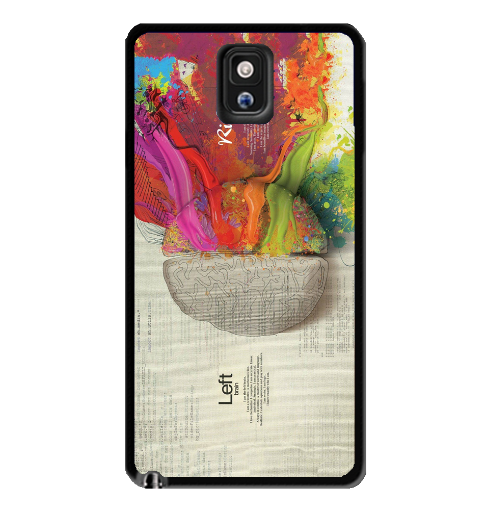 Colorful Brain Samsung Galaxy S3 S4 S5 Note 3 Case White Gold