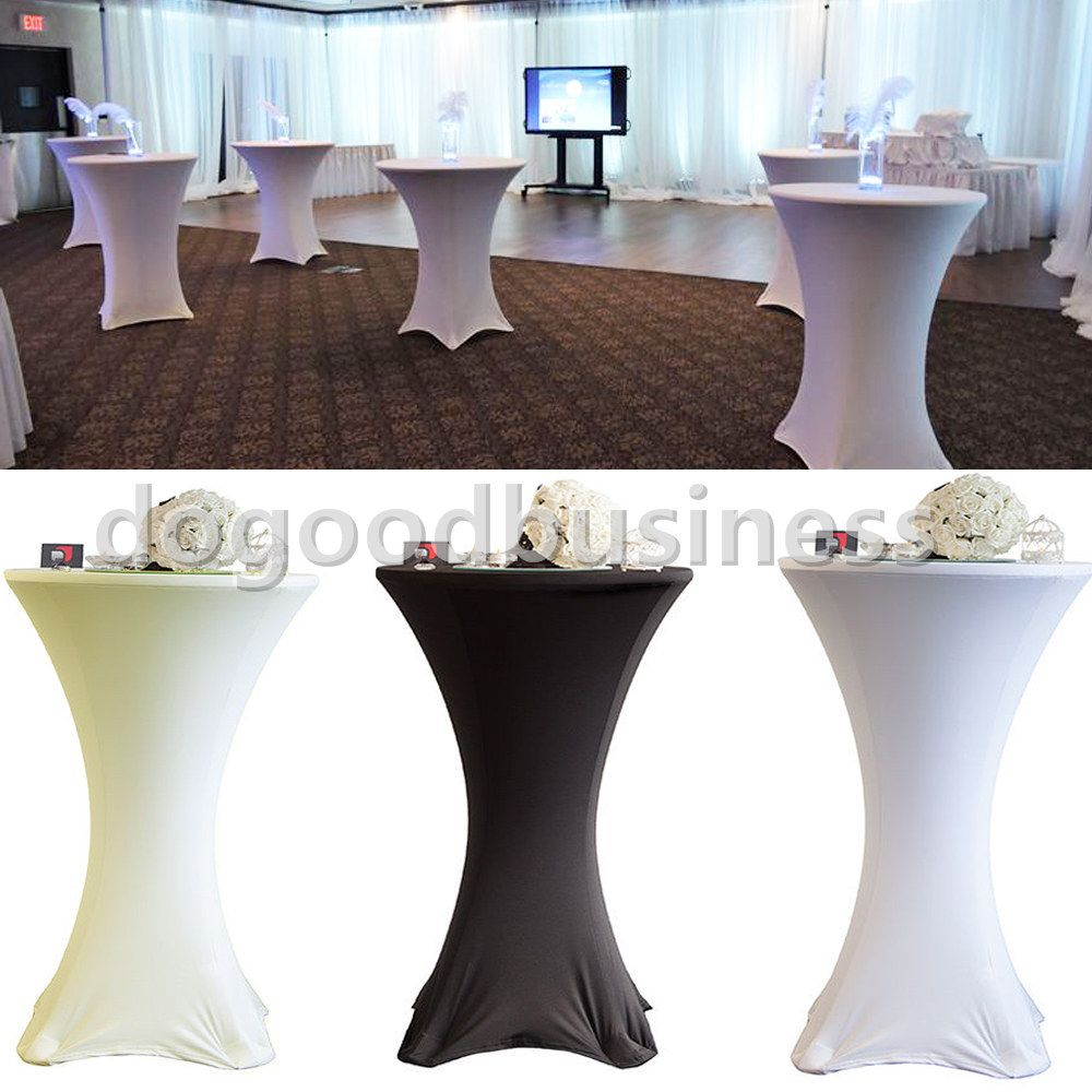 6pcs Pack Spandex Lycra Cover Tablecloth For 4 Leg 60cm Poseur Tail Bar Table Wedding Party Event Decorations In Cloth From Home Garden On