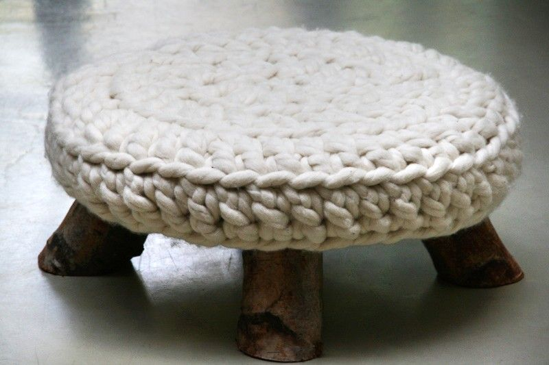 zoete appel | Furnishings | Pinterest | Raw material, Crochet and Stools