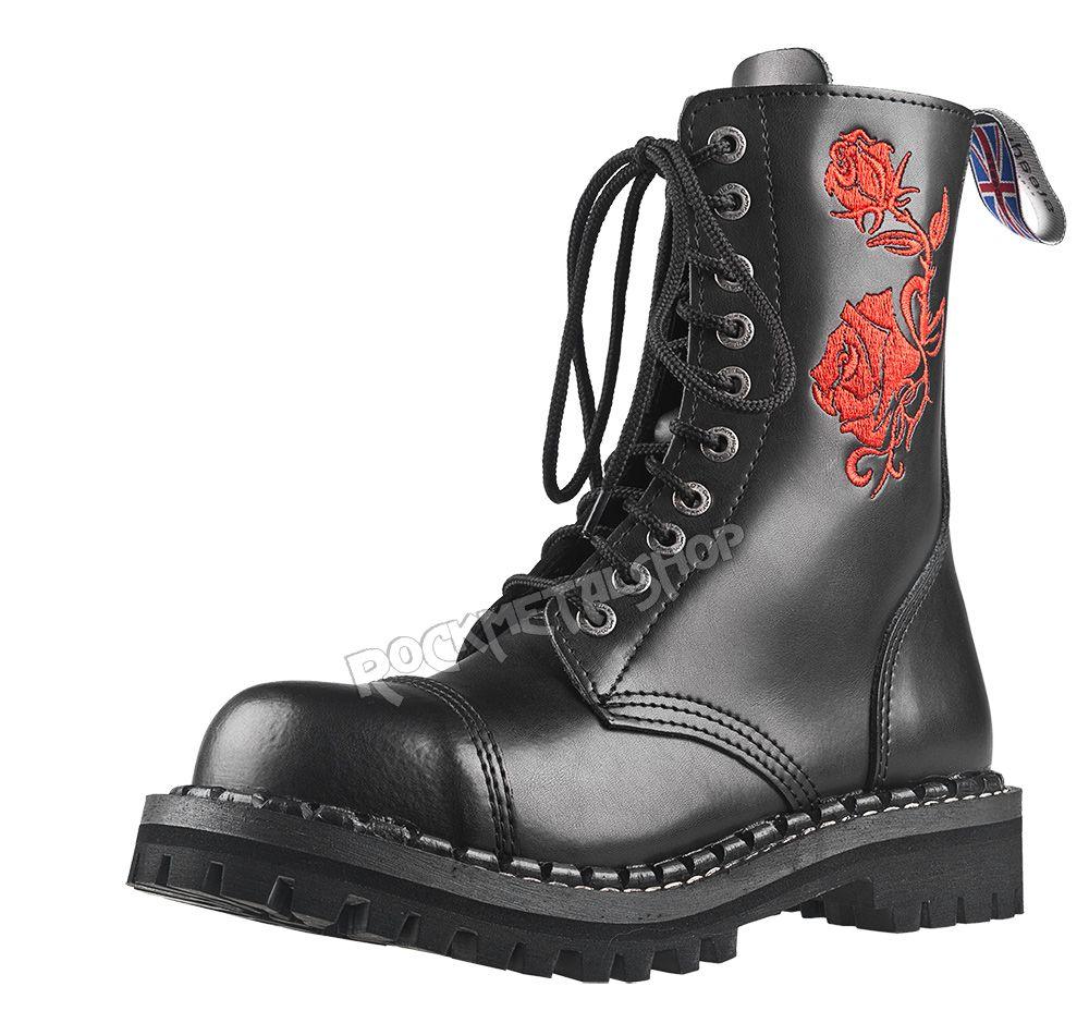 Glany Steady S Czarne 10 Dziurek Sklep Rockmetalshop Pl Boots Shoes Chelsea Boots