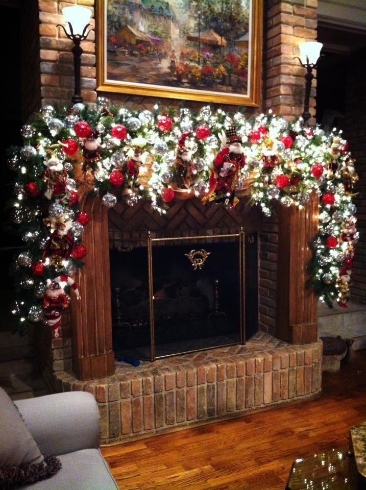 Marsha\u0027s Christmas Mantle dekorace Pinterest Mantle, Mantels