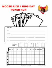 Poker Run Score Sheet  Google Search  Poker Run    Poker