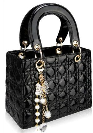 Dior Inspired Bag Red Or Black Rich Glossy Earance With Designer