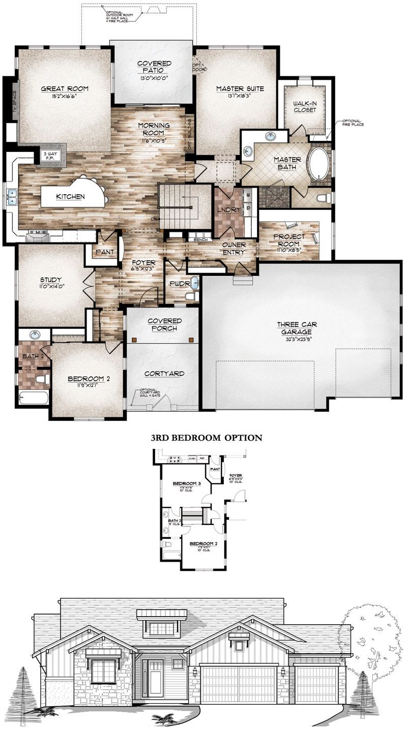 Sopris Homes Eagle Cottage Floor Plans New House Plans House Layout Plans