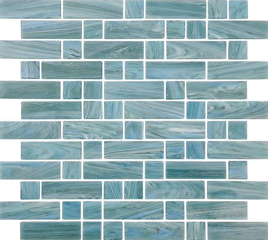 Glass Mosaic Tile Water Art Teal Mix Glass Mosaic Tiles Mosaic