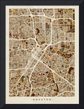 "Houston Texas City Street Map"" by Michael Tompsett"