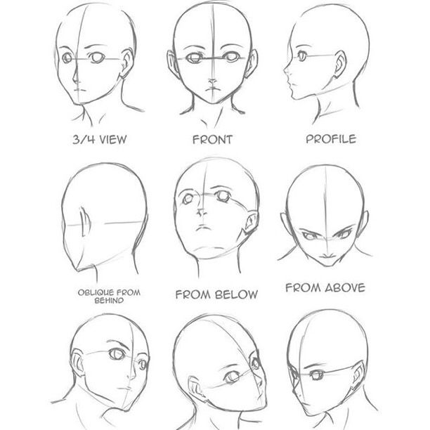 Head View Reference 3 Art Drawings Sketches Drawing Tutorial Drawing Heads