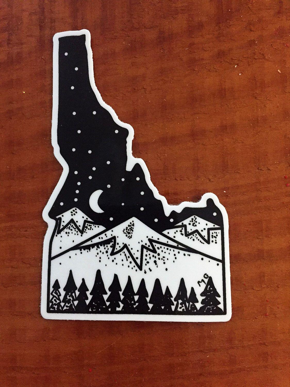 Idaho sticker idaho state of idaho idaho art idaho car sticker