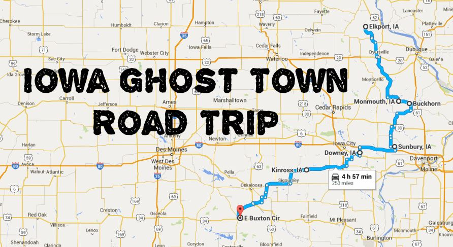 This Haunting Road Trip Through Iowa Ghost Towns Is One You Wont - Road map of iowa