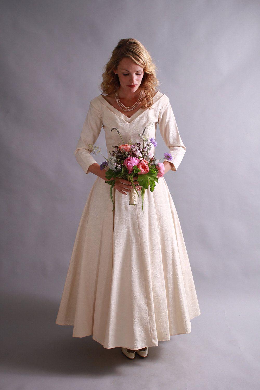 1950 wedding dress  us us wedding gown  mid century wedding dress  Bride To Be