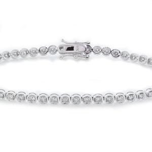 Malakan Jewelry - White Gold Diamond Tennis Bracelet BL7073