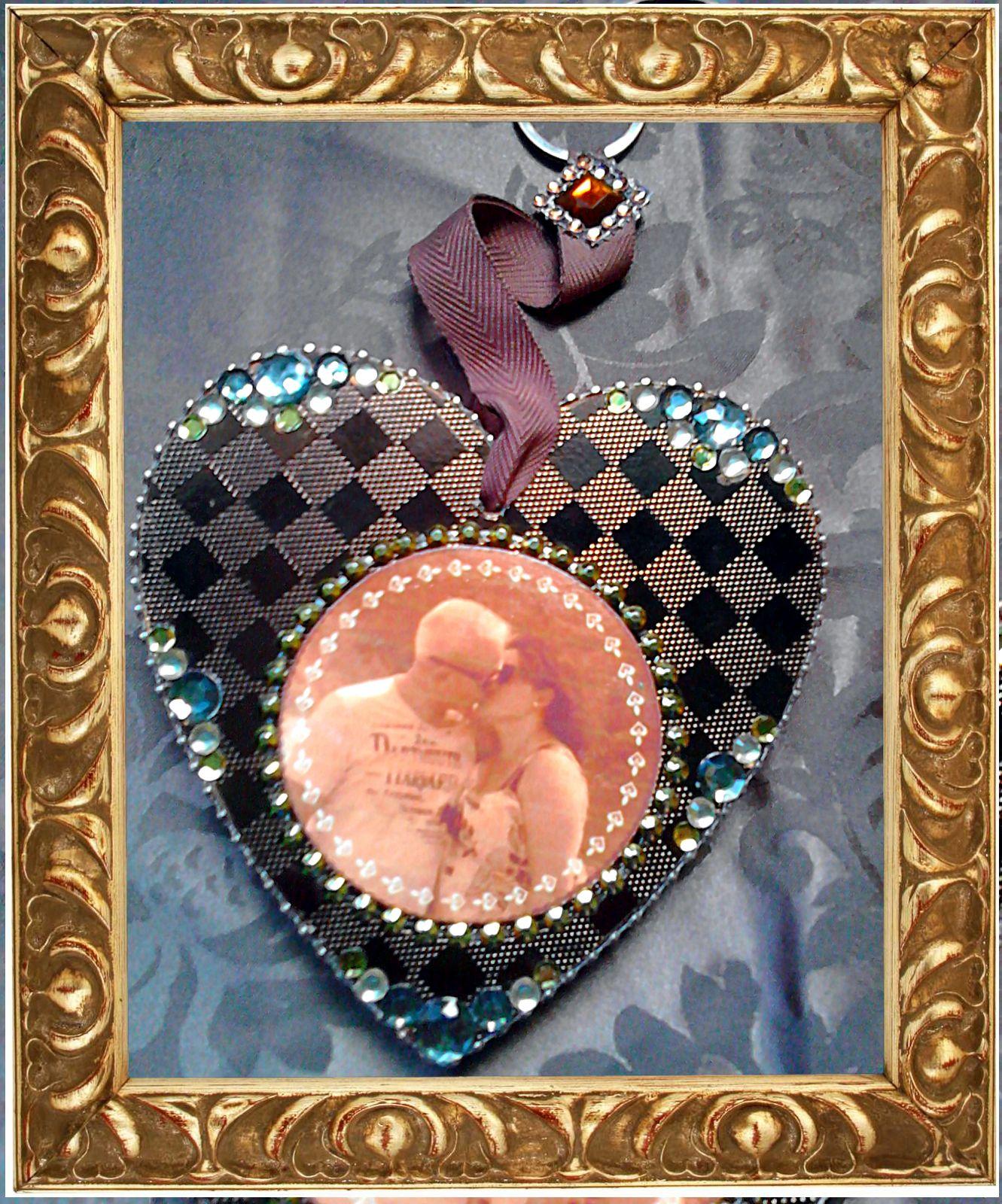 Dieses Herz habe ich für zwei ganz liebe Freunde aus Madrid gestaltet.
