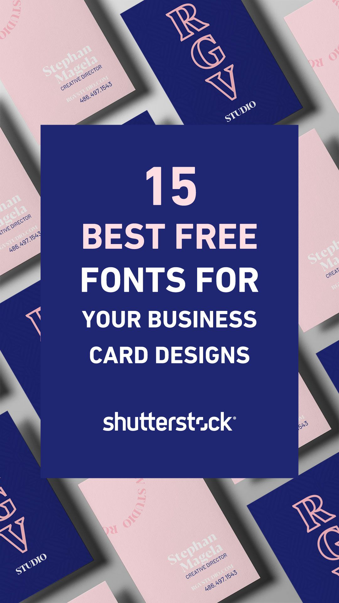 15 Best Free Fonts For Your Business Card Designs Business Card