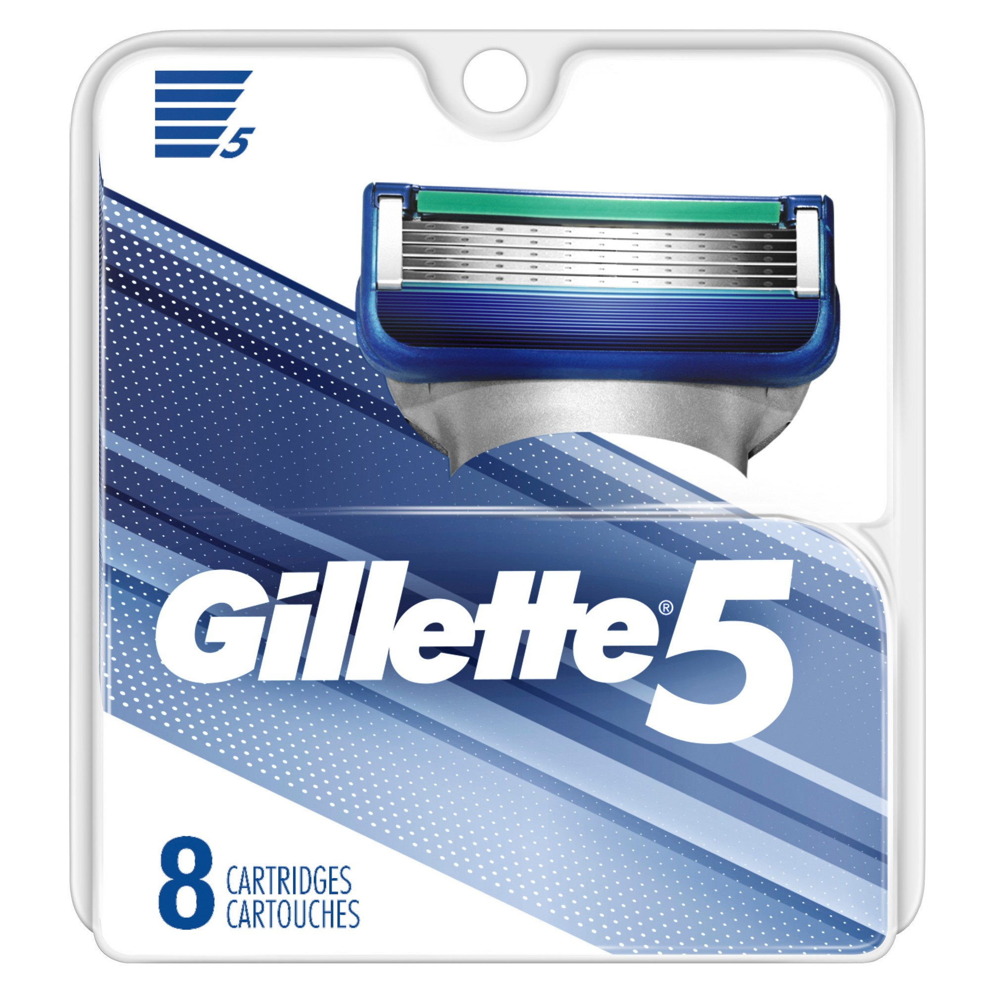Gillette 5 Blade Men's Razor Blade Refills 8ct Mens