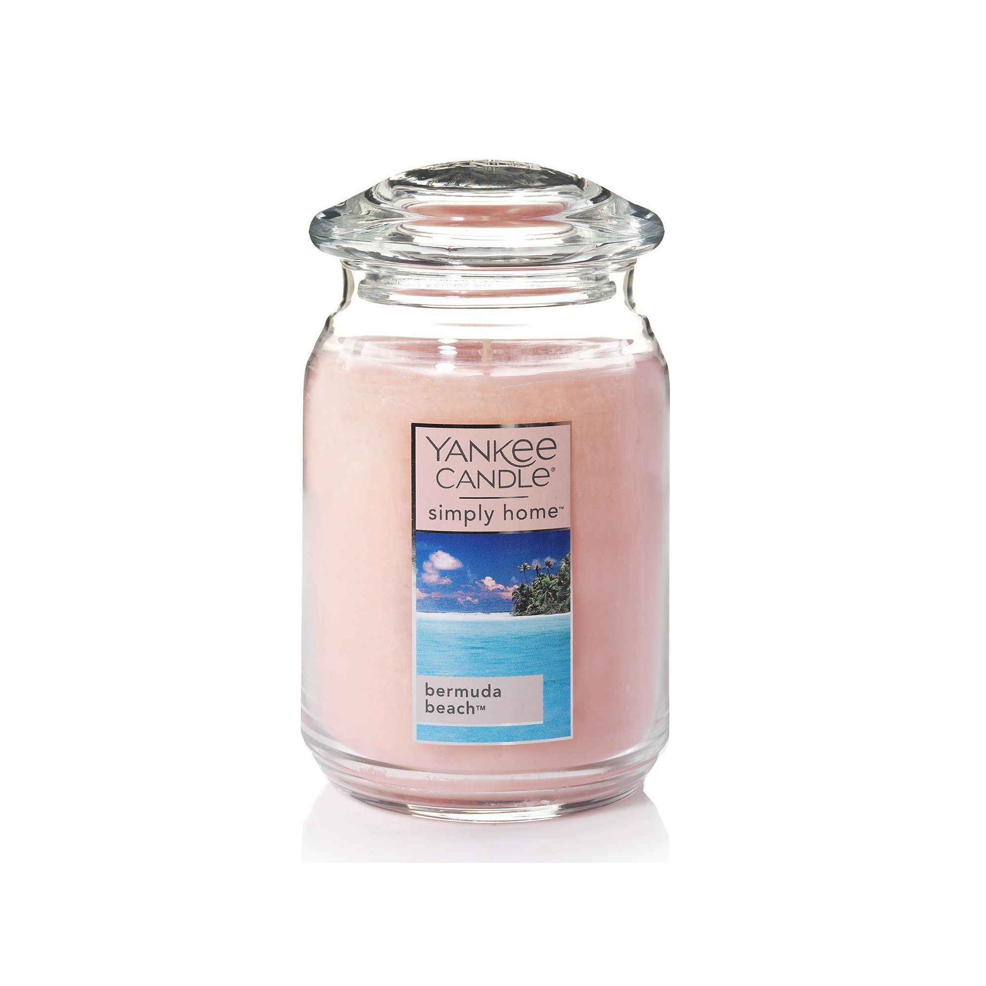 Yankee candle simply home bermuda beach large candle jar light pink