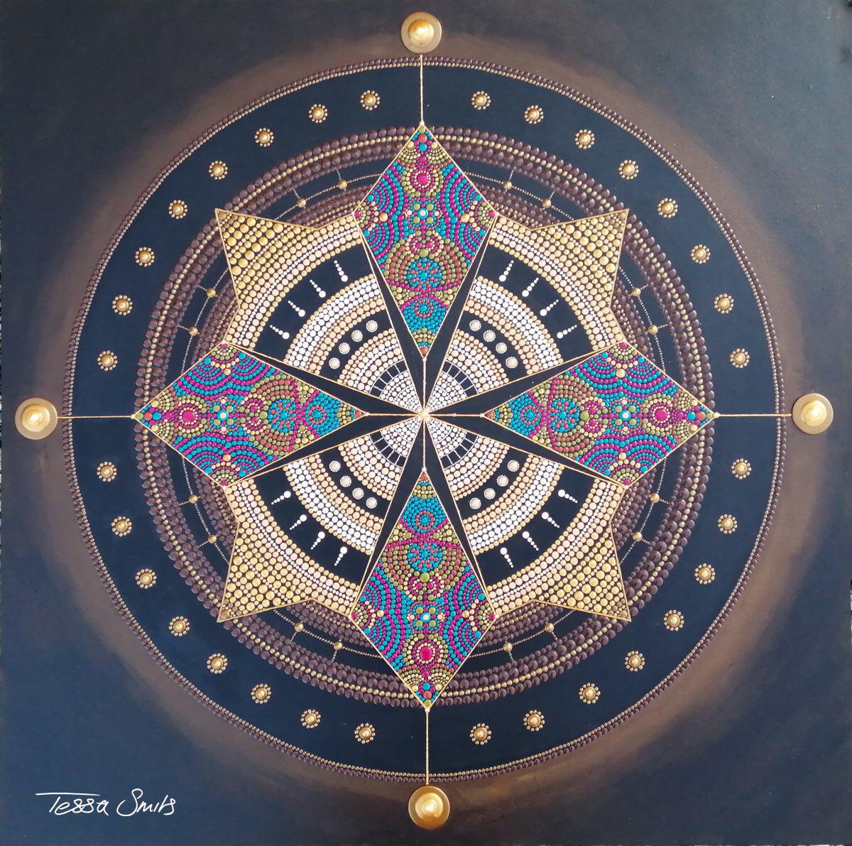 Mandala Dot Painting INDIAN SUMMER Dutch artist