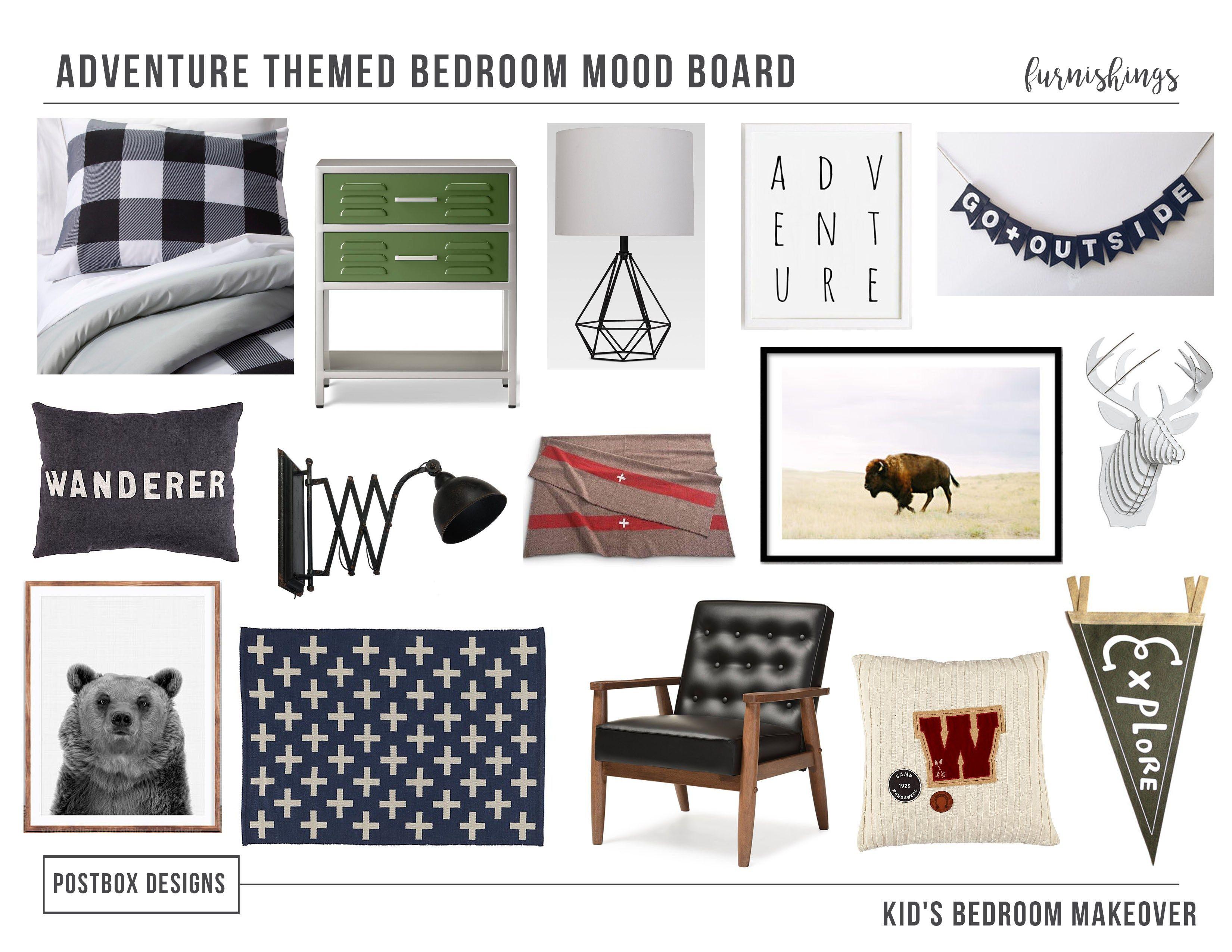 Postbox Designs E Design One Room Challenge Boy S Adventure Themed Makeover Camp Bedroom Decor Ideas