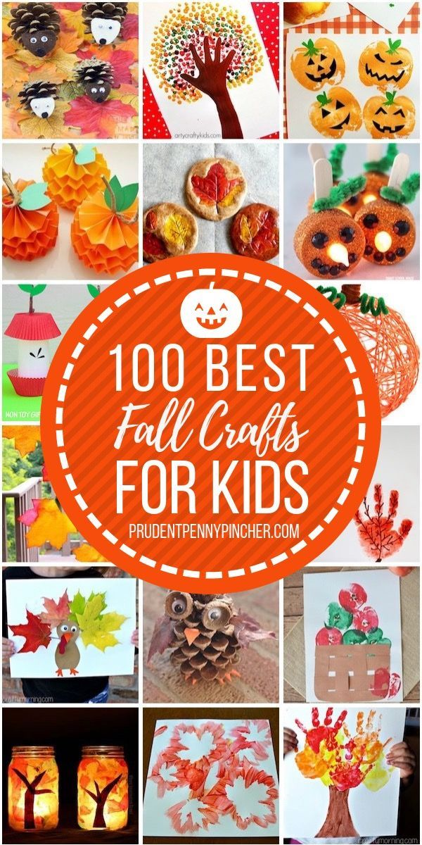 100 Best Fall Crafts for Kids #fallcrafts