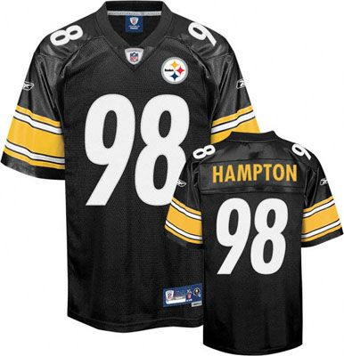 ed0a523e1 ... Reebok Pittsburgh Steelers Casey Hampton 98 Black Authentic Jersey Sale  ...