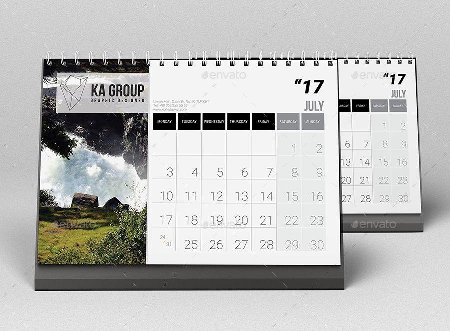 Desk Calendar 2017 V2 Ad Calendar Sponsored Desk Desk