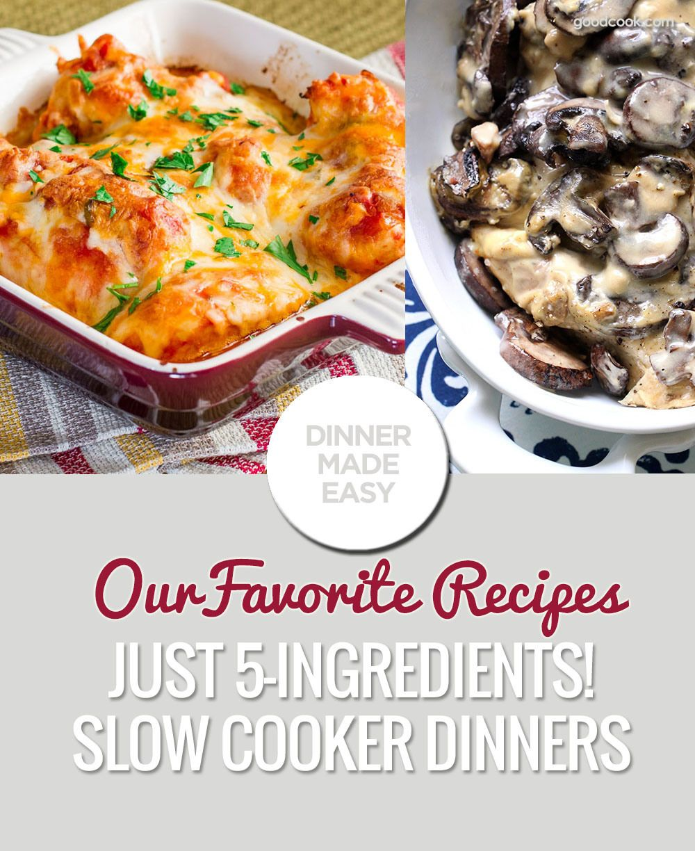 7 Slow Cooker Dinners with 5-Ingredients or Less - GoodCook #AskGoodCook