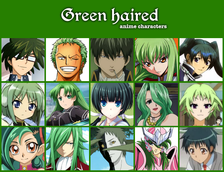 Green Haired Anime Characters By Jonatan7 On Deviantart Anime Anime Green Hair Anime Crossover