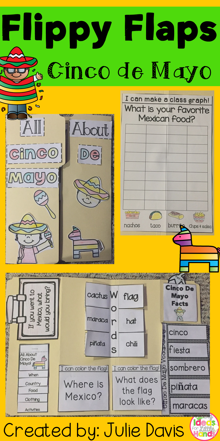 Cinco de mayo activities interactive notebook lapbook visit cinco de mayo flippy flaps this is a great way to get your students learning kristyandbryce Gallery