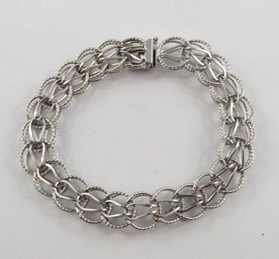 "Sterling Silver Charm Bracelet 7 1//4/"""