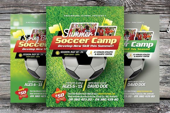 Soccer Camp Flyer Templates  Flyer Template And Template