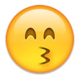 Kissing Face With Smiling Eyes Emoji U 1f619 Smiling Eyes Emoji Eyes Emoji