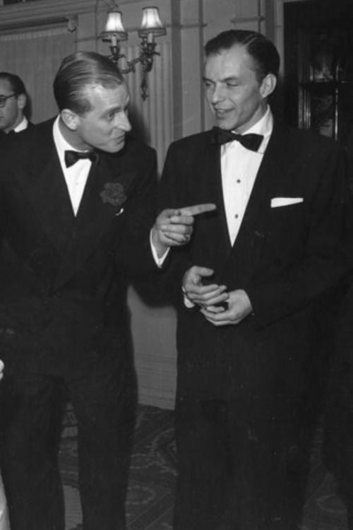 Prince Philip And A Very Young And Very Handsome Frank Sinatra