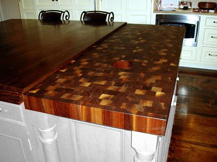 Like This Butchers Block Dark Wood With Contrast End Grain