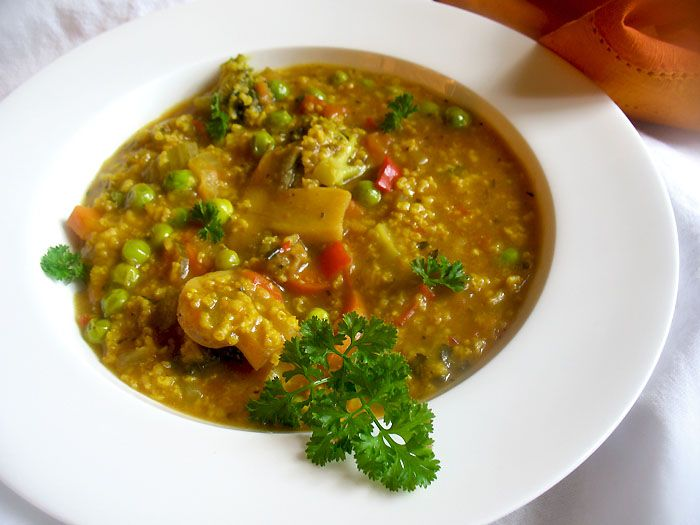 millet vegetable soup