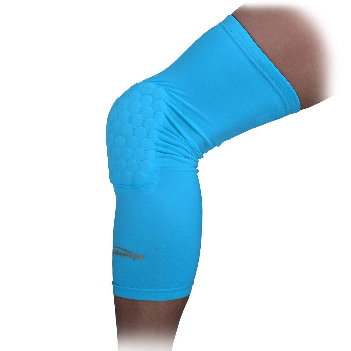 COOLOMG Lange Wärmehaltende Anti Rutsch Aermel Kniebandage Atmungsaktive Knieschoner für Damen Herren 1 Stück XS-XL: Amazon.de: Sport & Freizeit