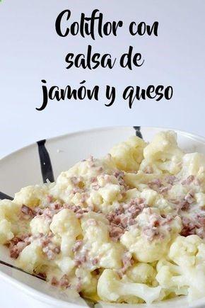 :) Coliflor con salsa de jamón y queso | Más en lomejordelaweb.e