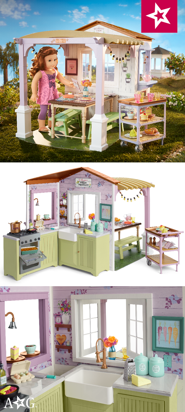 American Girl Blaire/'s Country Farmhouse Restaurant Farm Bench Only